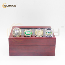 4 pcs 1966 1967 1996 2010 green bay packers championship ring set with box that a best gift for fans(China)
