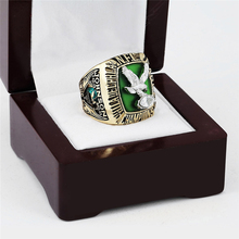1980 PHILADELPHIA EAGLES NFC Football Championship Ring 10-13 size with cherry wooden case(China)