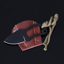 Small Protable MC Knife Home Outdoor Survival Self-defense Mini Claw Knife Leather Sheath Faca Karambit