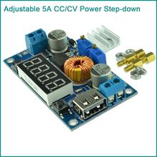CC CV Adjustable 5A Step Down Charging Module USB Step-Down Buck Voltmeter For LED Driver