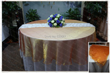 210cm Round NO.30 Orange Color Organza Table Overlay/Table Cover/Tablecloth For Wedding Party Home Hotel Banquet Decorations