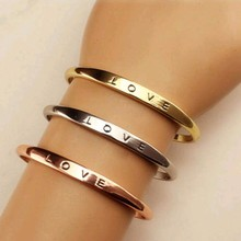 TOMTOSH 3 Colors Gold Love Bracelet Simple Europe Style Zinc Alloy Bracelets For Women Bangles Jewelry Gifts Free Shipping
