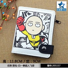 Anime One Punch Man PU White Zero Wallet/Coin Purse with Interior Zipper Pocket(China)