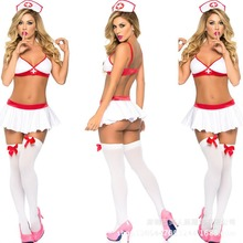 2017 Porn Sexy Nurse Costumes for Women Cosplay Lingerie Sexy Hot Erotic Porn Linge Girl Costume Sexy Lingerie Uniform Role Play(China)