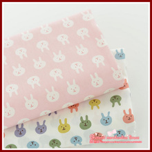 Lowest price ! 2 Pieces/lot 150*50CM Mixed rabbit Series confortable Cotton Fabric bedding sewing DIY Tilda Cloth!(China)
