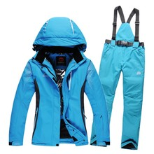 winter warm women ski suits waterproof breatheable female outdoor ski snowboard jacket and pants set woman snow board pants