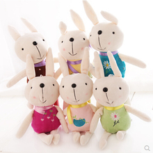 Cute Plush toys The rabbit doll Small pendant The wedding gift Gift Rag doll toys for Children Birthday gift 6pcs/set