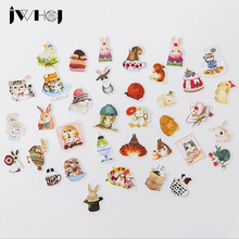 Buy 35 pcs/bag Cute small animals paper sticker children diy Handmade Gift Card photo album Scrapbook diary decoration stickers for $0.96 in AliExpress store