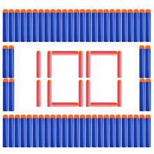 100PCs Soft Hole Head 7.2cm*1.3CM Refill Darts Toy Gun Accessories EVA Bullets For Nerf Retaliator Series Blasters Mega Children(China)