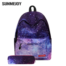 SUNMEJOY 2017 Harajuku Starry Sky Canvas Women Rucksack School Bag Backpacks for Teenage Girls Casual Travel Bags Schoolbag Pack