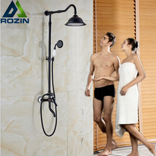 New Design Bathroom Outdoor Shower Set Single Handle Wall Mounted Bath Shower Faucet with Handshower + Rotate Tub Taps(China)