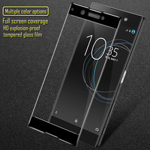 Full Cover Tempered Glass for Sony Xperia XA1 Shockproof HD Tempered Glass Screen Protector for Sony Xperia XA1 Ultra Glass Film(China)