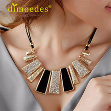 Diomedes Newest DIOMEDES Creative Fashion Design Beads Enamel Bib Leather Braided Rope Chain Necklace Accessories Sexy Chain