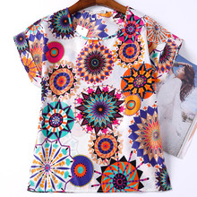 Summer Women T Shirt 19 Patterns Print Plus Size Cheap Clothes China Roupas Femininas Female Summer Style T-Shirt Women Top Tee(China)