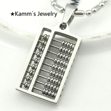 20mm*13mm Abacus Maths New Arrival Hot Sale Pendant Necklace Stainless Steel Man Geometric High Quality Jewelry Wholesale KP1277