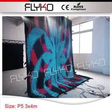 P5 4m high x3m width video display new design amazing light wall led curtain party decoration