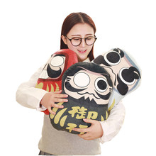 1pc 32cm*35cm plush pillow Dharma lucky home decoration cartoon 3d pillow car office cushion boy girl gifts free shipping(China)