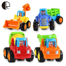 Free shipping High quality original box Kids Beach baby toy pull back cars playing toys sand tools truck 4pcs/lot Gifts HT066(China)