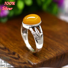100% 925 Sterling-Silver-Jewelry Adjustable Oavl Ring Blank Fit 8*11MM Leaves Setting Gemstone Tray Antique Silver Plate