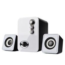 Usb Multimedia Stereo Computer Speakers 2.1 For PC Desktop Laptop Notebook Mobile phone Dual Subwoofer 3D sound speaker(China)