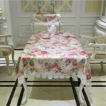 2016 New Delicate High Quality Cotton Jacquard Flower Lace Tablecloth Europe Pastoral Style Table Cloth Towel Cover Overlay