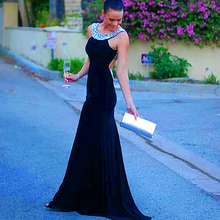 2015 Sexy Dresses To Wear To A Wedding Prom Long Dinner Dress Party Evening Elegant Banquet Crystal Gown With Rhinestone Stones