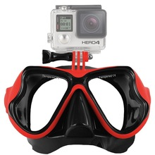 Swimming diving goggles Gopro full face full cover snorkeling goggles glass mirror Diving Mask diving supplies(China)