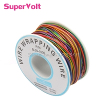 PCB Test Core Line 30AWG Wire Single Tinned Copper Wire 8-color Board Cable Roll #G205M# Best Quality