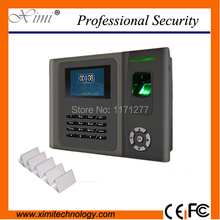 Hight quality Password fingerprint and IC card employee attendance with back up battery LINUX system TCP/IP biometric clock
