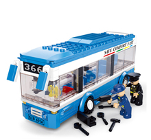 Models building toy 0330 city buses assembled monolayer 235Pcs Building Blocks compatible with lego city toys & hobbies(China)