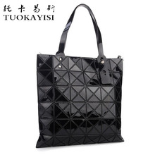 Buy fashion style Women PU Leather Handbag Ladies Messenger Sequins lattice Shoulder Bag big Crossbody Bag Designer Tote Bag Black for $33.00 in AliExpress store