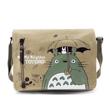 One Piece Totoro Bag Men Messenger Bags Canvas Shoulder Bag Lovely Cartoon Anime Neighbor Crossbody School Letter Bag(China)