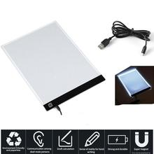 AMZDEAL 2017 Portable Digital Tablet LED Drawing Pad Electronic Adjustable Optical Writing Tablet Dimmable Comic Copy(China)