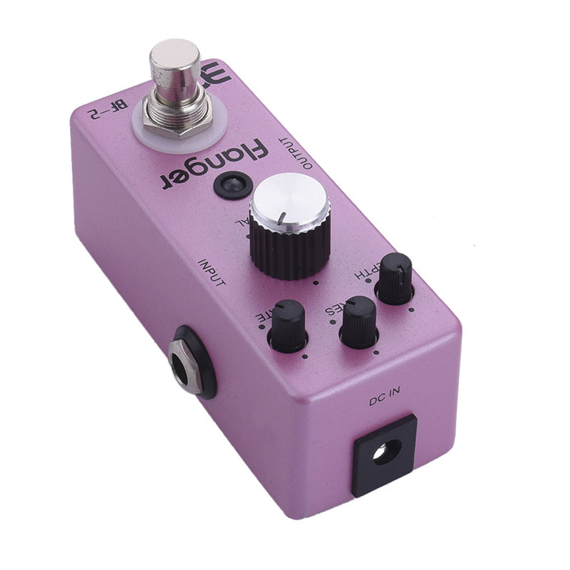Electric Guitar Pedal BF-2 Flanger Guitar Effect Pedal True Bypass Compact Mini Pedal effects for electric guitar pink color<br>