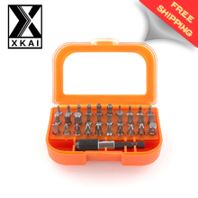 XKAI 32 in 1 Screwdriver Set Phone PC Repair Kit Tools With Box Magnetic Trox Hex Cross Philips Pozidriv Slot