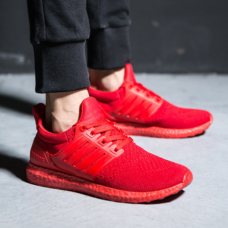 All red sneakers for men
