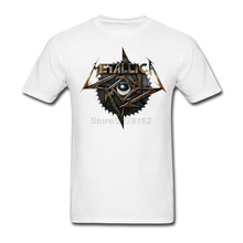 Metallica Hyperpin Wheel Art Men Red Shirts Create your own music theme T-Shirt with Metal Eye anime Classic Collar men  Garment