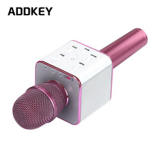 ADDKEY Q7 Magic Karaoke Microphone Phone KTV Player Wireless Condenser Bluetooth MIC Speaker Record Music For Iphone Android