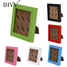 DIVV Top Grand Family Vintage Photo Frame Home Decor Wooden Wedding Decoration Home Pictures Frames Vinatage Shape Family Frame(China)
