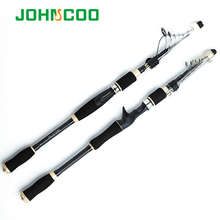 Travel Fishing Rod 1.8m 2.1m 2.4m 2.7m Spinning Fishing Rod MH Hard Telescopic Fishing Rod Carbon Fiber Casting Rod