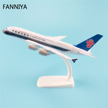 20cm Alloy Metal Air China Southern Airlines Plane Model Airbus 380 A380 Airways Aircraft Airplane Model W Stand Gift(China)