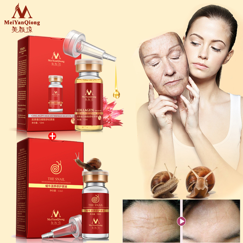 Face Care Anti Aging Remove Wrinkles Serum Moisturizing Argireline Snail Nourishing Concentrate Firming Skin Whitening Skin Care(China (Mainland))