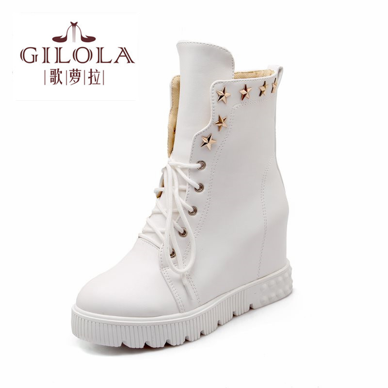 2016 size 34-43 fashion wedge high heels platform women boots snow shoes woman autumn boots winter womens new #Y1101306F<br><br>Aliexpress