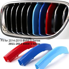3D Car Grille Sport Stripe ABS Decal Sticker fit for BMW 5 Series F10 F18 /3 series F30 F31 F35