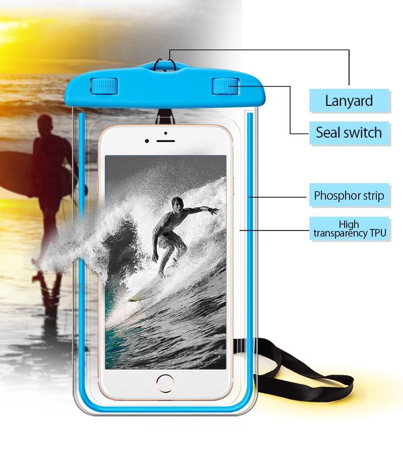 TOMKAS Universal Waterproof Case For iPhone X 8 7 6 s Plus Cover Pouch Waterproof Bag Case For Phone Coque Waterproof Phone Case (7)
