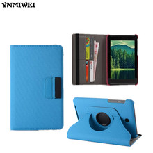YNMIWEI ME173 Leather Cover Case For ASUS MeMO Pad HD7 ME173 ME173X 7.0 Tablet Cover Case with Card Slot +protector+gift
