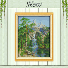 High mountain and flowing water diy Painting Counted Printed on canvas DMC 14CT 11CT Cross Stitch Needlework Kits Embroidery Set(China)