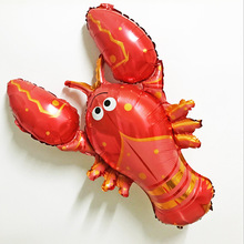1pcs/lot Jumbo Helium Inflatable Animal Lobster Foil Balloon Party Decoration large seafood big sea animals globos classic toys(China)