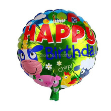 HAPPY BIRTHDAY 10 PCS/lot Hybrid Farm models of animal balloons, aluminum balloon animals, animal pet balloons children's toys