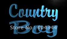 LB467- Country Boy Display   LED Neon Light Sign     home decor  crafts